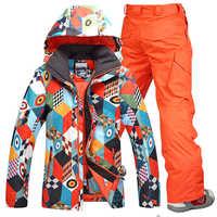 Winter Männer Ski Anzug 2019 Hohe Qualität männer Tragen Wärme Ski Jacken Wasserdicht Winddicht Anzüge Cothes Hosen