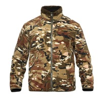 Tactical Camouflage Reversible Fleece Coat Liner Winter Outdoor Hunting Camping Climbing Thick Warm Double Face Side