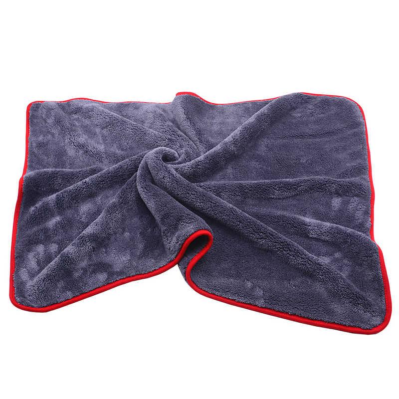 900GSM 90x60 см большой размеры толстые плюшевое полотенце из микрофибры автомойка чистой ткани из микрофибры воск полировки детализация Полотенца Абсорбент