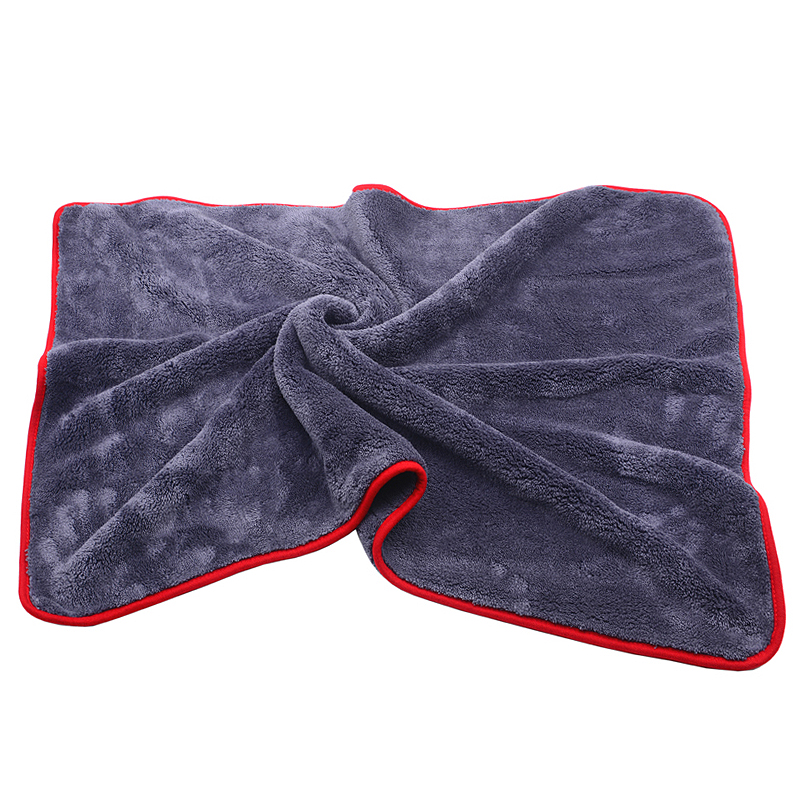 900GSM 90x60cm Large Size Thick Plush Microfiber Towel Car Wash Clean Cloths Microfibre Wax Polishing Detailing Towel Absorbent