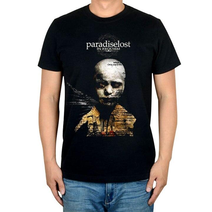 14 видов иллюстрации Райский Lost Rock брендовая футболка панк готический Металл черные рубашки уличная Harajuku искусство картины camiseta - Цвет: 2