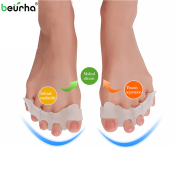 2 Pcs Per Pair Silicone Finger Spacer For Manicure Toe Separator Pedicure Foot Care Bunion Corrector Orthopedic Hallux Valgus
