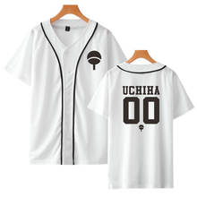 New Anime Design Naruto Baseball Shirt Short Sleeve Baseball Jacket Uchiha Hatake Uzumaki Clan Badge Print Shirts Unisex Clothes