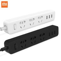 100 Original Xiaomi Mi Smart Power Strip Outlet Socket 3 USB Extension Socket Plug With Socket