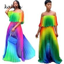 Kakan2019 Summer Chiffon Beach Dress New Sexy Tube Top Loose Print Bohemian Vacation