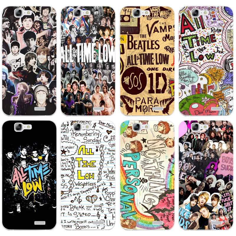 H016 All Time Low Transparent Hard Thin Skin Case Cover For Huawei P8 P9 P10 Lite Plus 2017 Honor 8 Lite 9 6X image