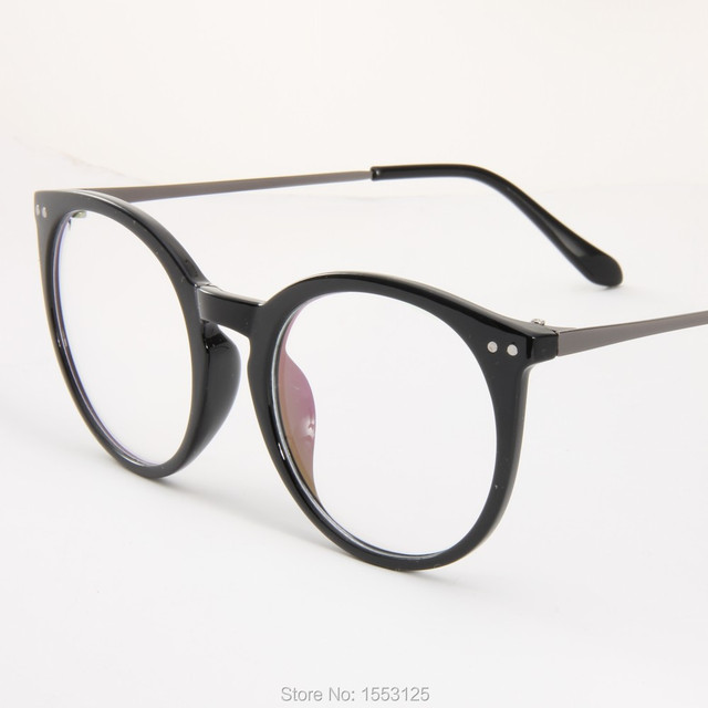 6a4b64d1d7 New classical big frame glasses harajuku style men and women glasses round  black frame
