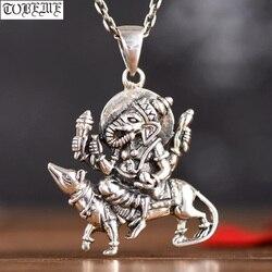 Handgemachte 100% 925 Silber Thailand Ganesh Anhänger Vintage Silber Elefanten Nase Reichtum Buddha Anhänger Glück Anhänger