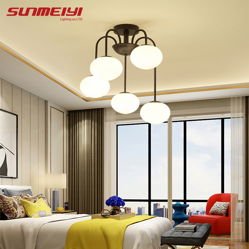 Modern LED Ceiling Lights Glass Lampshade For Bedroom Kitchen luminaria led Living room Lights Surface Mounted Lighting Fixtures