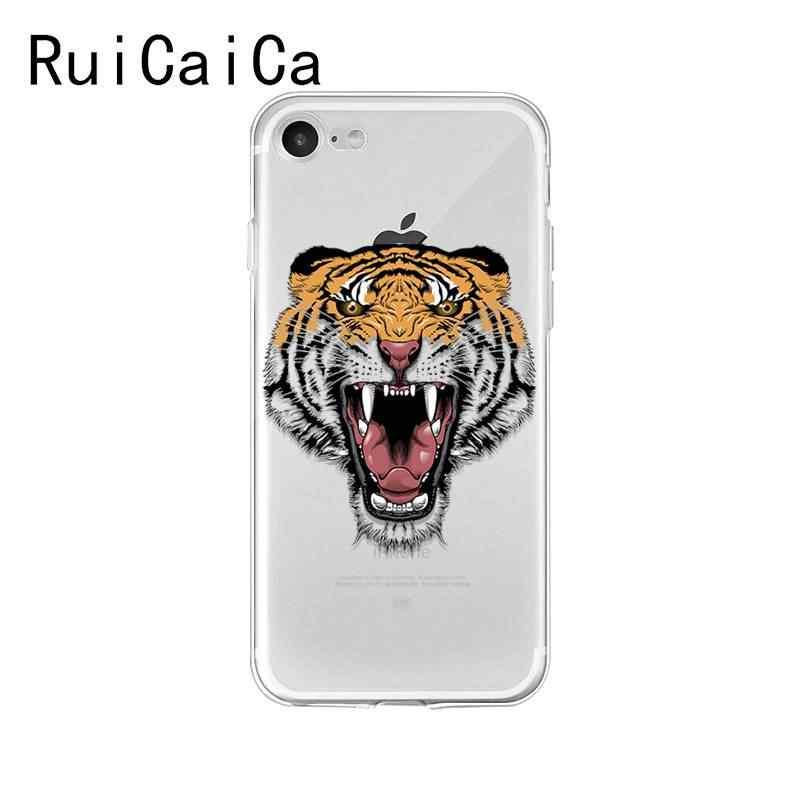 Ruicaica tygrys wilk lion zwierząt nowo przybyłych etui na telefon dla iPhone X XS MAX 6 6 s 7 7 plus 8 8 Plus 5 5S SE XR 10 pokrywa