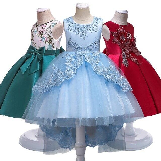 Vestido de las muchachas de la flor del verano caliente para la boda y la fiesta vestidos de la princesa del bebé del traje del niño ropa de las niñas del bebé