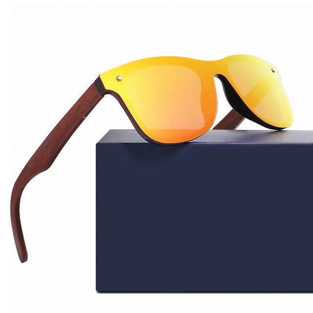 Wood bamboo oversized Sunglasses Polarized Luxury Women/Men