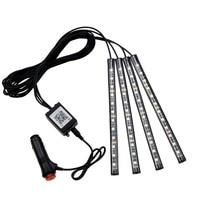 12LED Bluetooth APP Control Car Interior Decorative Floor Strip Lamp Light Voice Music Control
