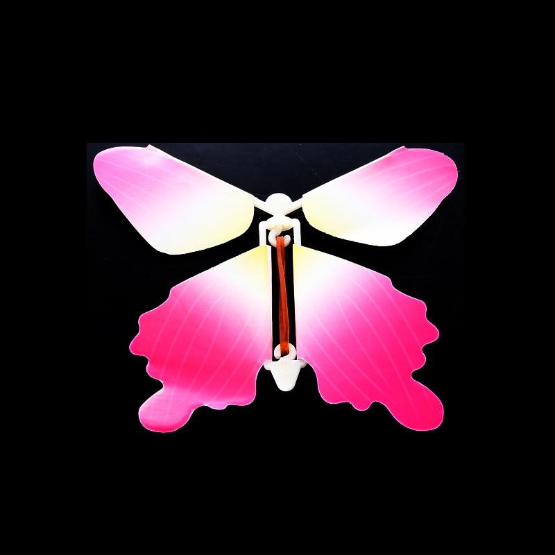50 pcs/pack jouet magique Transformation mouche papillon accessoires tour de magie changer les mains drôle blague blague mystique plaisir jouet Surprise cadeau - 2