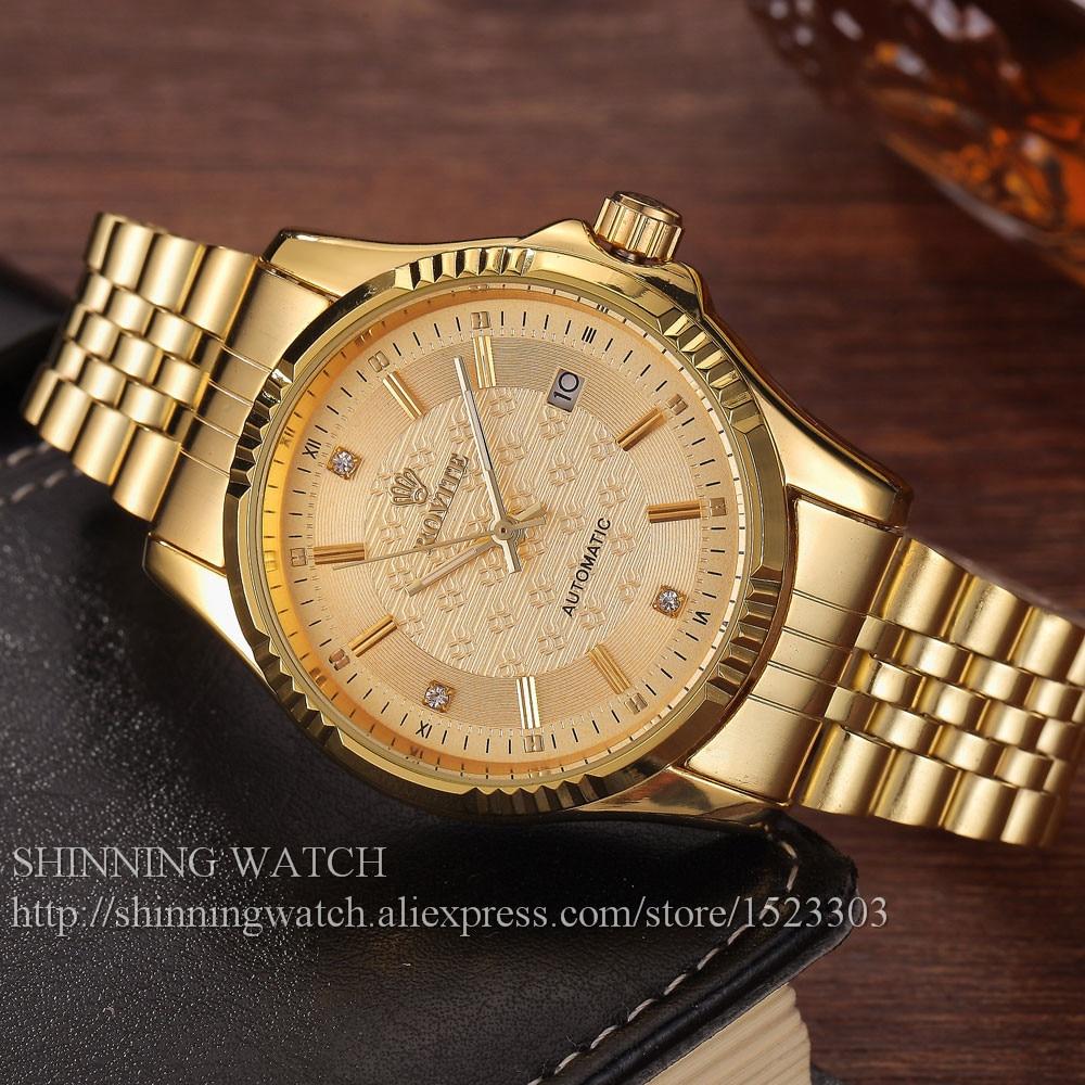 ძვირადღირებული ოქროს - მამაკაცის საათები - ფოტო 6
