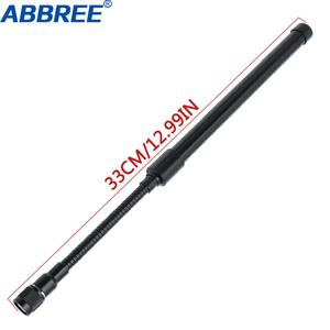 Image 2 - 72 CM/28.3IN אורך ABBREE Sma נקבה Dual Band 144/430 Mhz מתקפל CS טקטי אנטנה עבור ווקי טוקי Baofeng UV 5R UV 82 BF