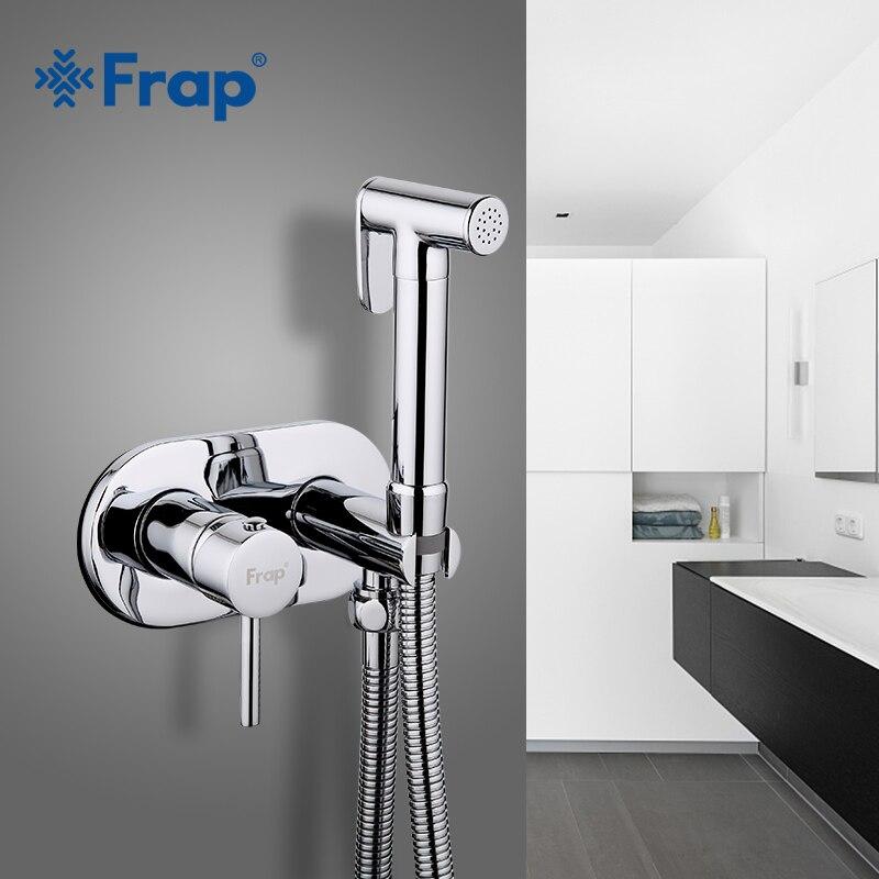 Frap Bidé Torneiras de Latão torneira Do chuveiro do Banheiro bidé sanita pulverizador higiênico lavadora Bidé mixer muçulmano chuveiro ducha higienica F7505