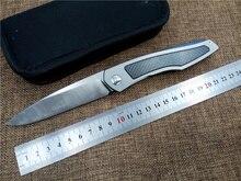 Newest D2 blade folding knife Titanium+Carbon fibber handle utility EDC pocket knife outdoor camping tactical knife hand tool