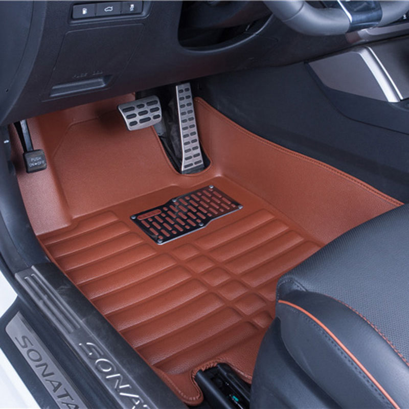 Car Floor Mats Covers top grade anti-scratch fire resistant durable waterproof 5D leather mat For Peugeot  206 207 307 308 3d trunk mat for peugeot 508 waterproof car protector carpet auto floor mats keep clean interior accessories