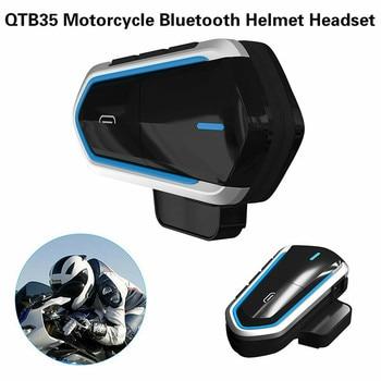 Auriculares estéreo con Bluetooth QTB35, auriculares inalámbricos con Bluetooth a prueba de agua compatibles con la mayoría de los cascos de motocicleta Scooter