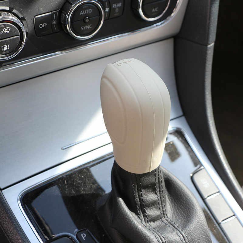 Carmilla 1 чехол из поликарбоната и силикона для автомобиля Шестерни Head рукоятка рычага переключения передач крышка для Volkswagen VW Golf 6 7 GTI Jetta MK6 Polo Bora Passat B7 Tiguan Touran