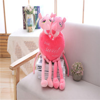 1pcs Cute Lovely 60CM Sweet Heart Couples Plush Toys Pink Panther Stuffed Animals Plush Toys Panther Plush Toy