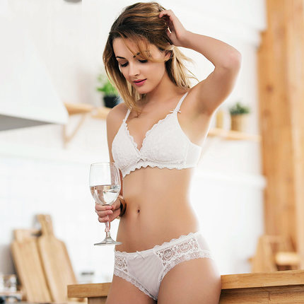 Sexy Mousse pink black white cotton Bra set with push up cups Intimates bra thong panty Set For Sexy Women in Bra Brief Sets from Underwear Sleepwears