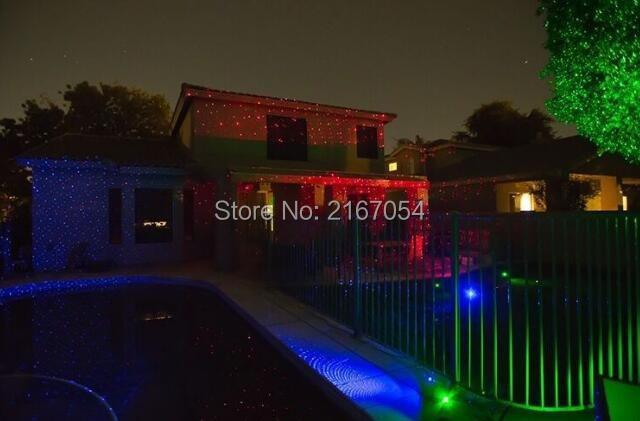 Luce luci di natale proiettore laser rgb statico esterno ip65
