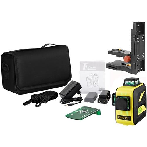 F93T-XR/F93T-XG 12 линий 3D литиевая батарея красный/зеленый лазерный уровень+ приемник+ Магнитный кронштейн+ 3M штатив - Color: Green 8