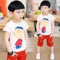 Тенденция 2017 мальчиков летняя одежда ребенок футболка девушки парни одежды ребенка с коротким рукавом мультфильм дети футболки летний топ n15
