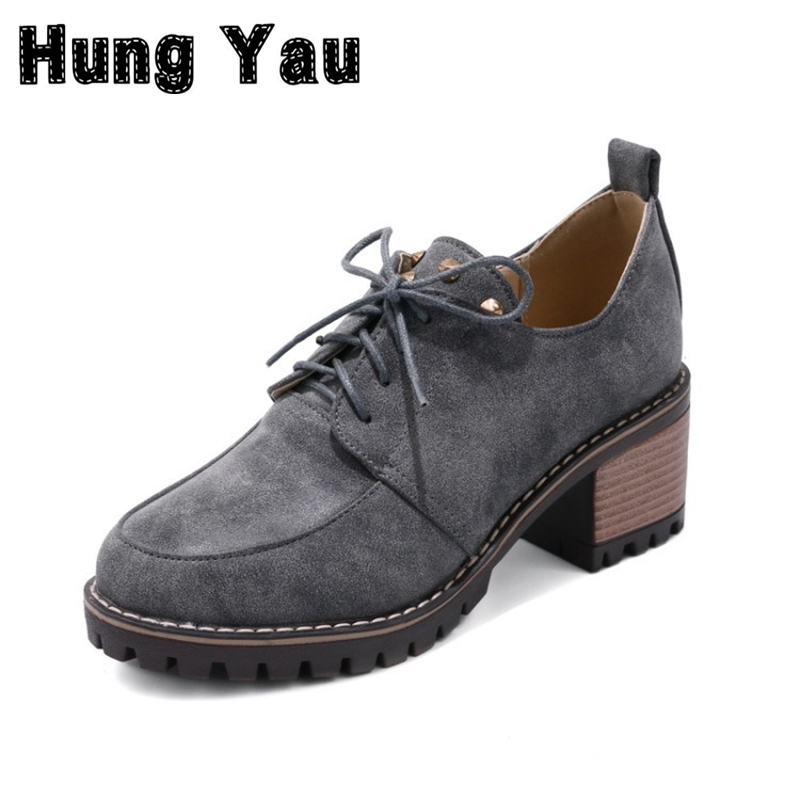 Hung Yau Oxfords 2017 Platform Shoes Woman Loafers Casual Creepers Slip On Female Flats Women Casual Shoes 3 Colors Plus Size 11 hung yau women oxfords flats casual platform black shoes woman spring summer style fashion women lace up flat shoes size us 8