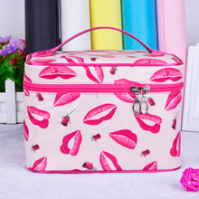 2016 Famale Portable Cosmetic Bag, Receive Bag, Foldable Handy Waterproof Large Capacity Makeup Organizer  Nylon
