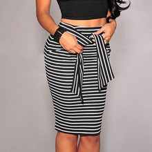 6735aa500 Compra black and white striped long skirt y disfruta del envío ...