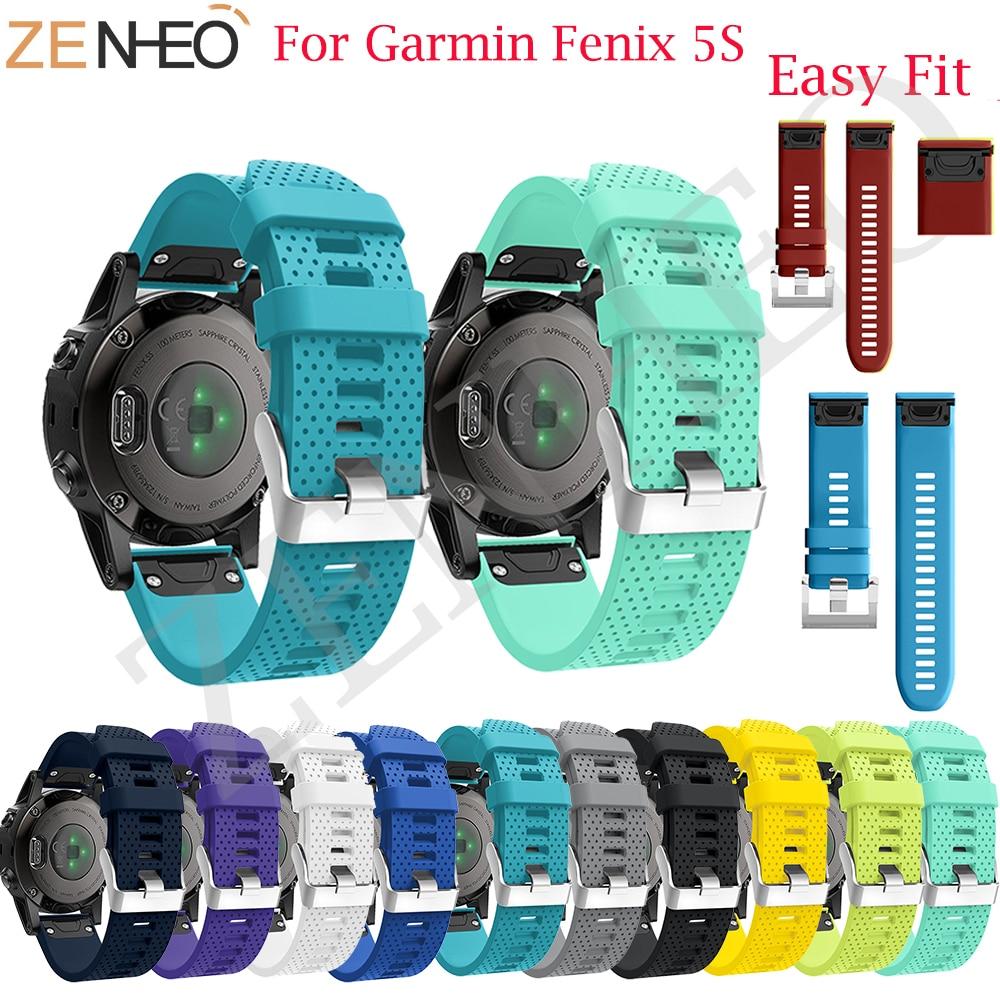 Quick Release EasyFit Silicone for Garmin Fenix 5S Watchband Wrist Strap for Garmin Fenix 5S /5S Plus Replacement Watch Band все цены