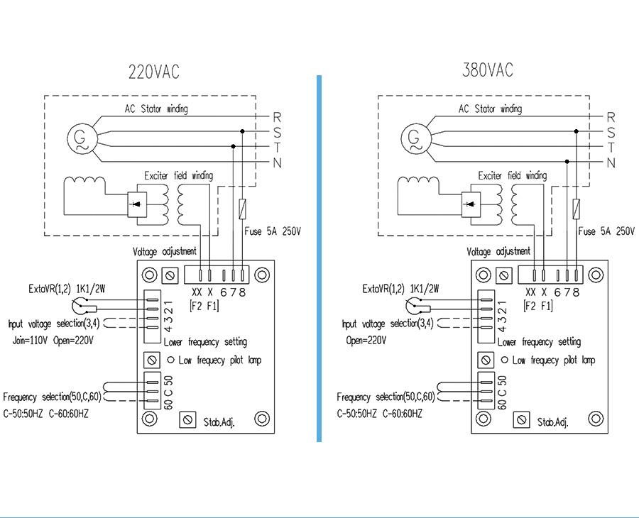 2019 BLUE Automatic Voltage Regulator AVR SX460 for