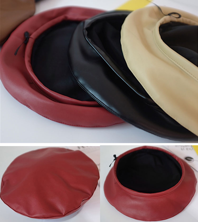 beret women winter french red black wool beret hat women french hat female beret women beret hats women leather beret women (14)