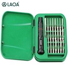 LAOA 22 ב 1 Precision מברג סט S2 תיקון כלים עבור טלפונים ניידים Torx מברג ביטים סט עם 22 מברג ביטים