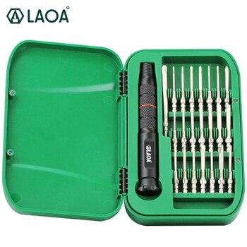 LAOA 22 in 1 Präzision Schraubendreher-satz S2 Reparatur Werkzeuge für Handys Torx Schraube fahrer bits Set Mit 22 schraubendreher bits
