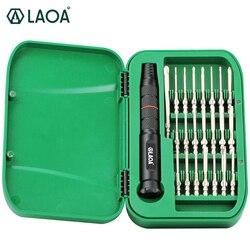 LAOA 22 w 1 zestaw śrubokrętów precyzyjnych S2 narzędzia do naprawy telefonów komórkowych śrubokręt typu torx zestaw bitów z 22 wkrętaki w Śrubokręty od Narzędzia na