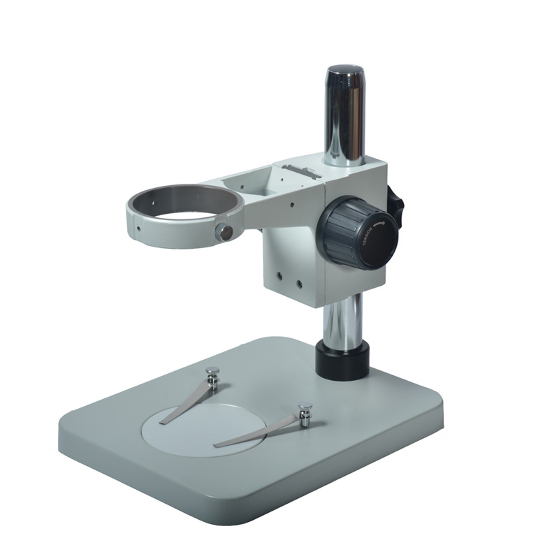 New Metal Table Stand Universal Stereo Microscope Bracket Stand Holder With 76mm Adjustable Focus Bracket For LAB