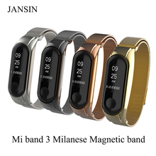 Milanese Loop band for xiaomi mi band 3 Stainless steel strap Magnetic adjustable Bracelet for Xiaomi Mi Band 3 Metal Wrist Band