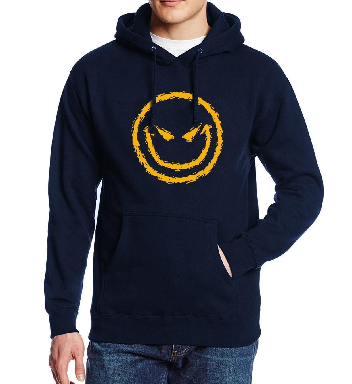 Evil Smiley Face Fashion Printed Men's Sportswear 2017 Spring Winter Brand-Clothing Adult Mens Hoodies Sweatshirt Hip Hop Hoody