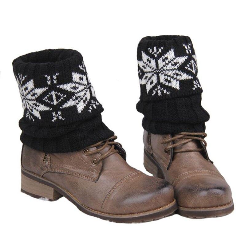 Damen Schnee Muster Beinwärmer Winter Socken Häkeln Söckchen Damen ...