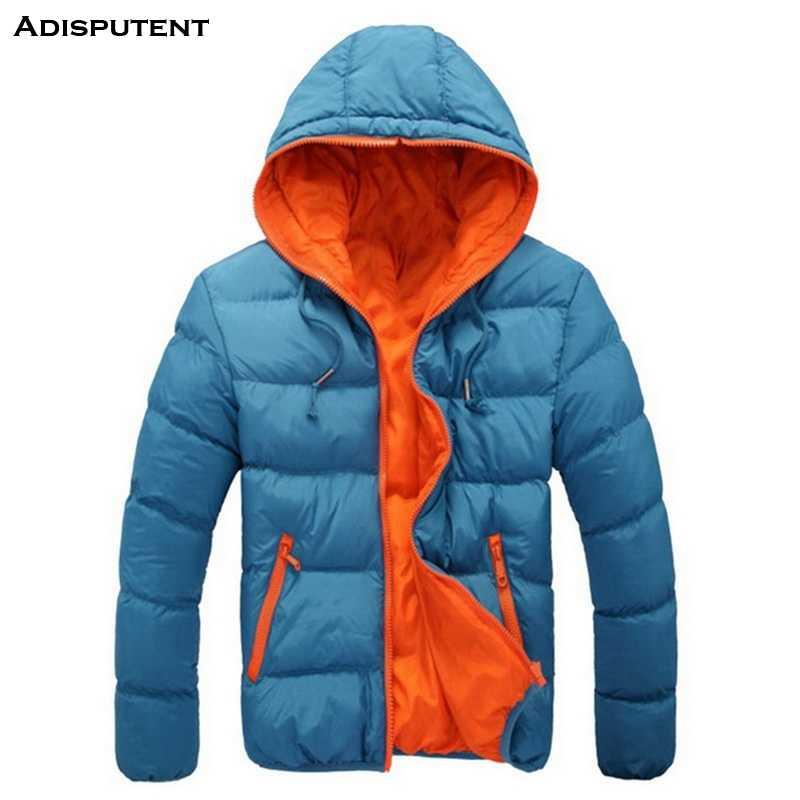 Adisputent الرجال عارضة مقنعين سترة 2019 الشتاء رجل القطن صالح سليم معطف سميك الدافئة أوم سترة جاكيت زيبرا 3XL