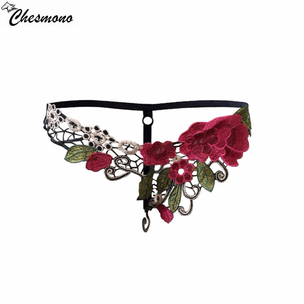 chesmono Hot sale embroidery New Ultra-thin Women Seamless lace G-String T-back Sexy lingerie Underwear Panties Briefs