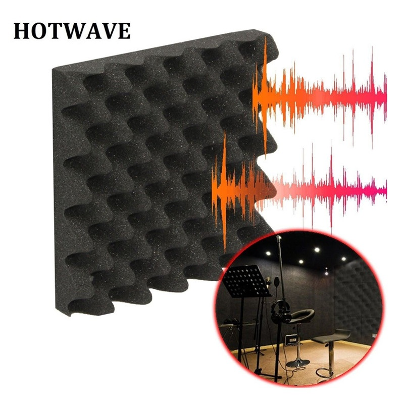 MUFASHA 36pcs per package acoustic sound absorbing and soundproofing studio foam panel