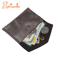 Italy Handmade Cowhide Solid Mini Wallets Pouch Money Pocket Genuine Leather Vinatage Purse Small Lady Coin