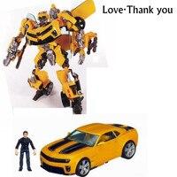 新しい変換カーロボットアクションフィギュアのおもちゃ黄色車サムロボットモデルのおもちゃクラシックbrinquedos子供のおもちゃギフト