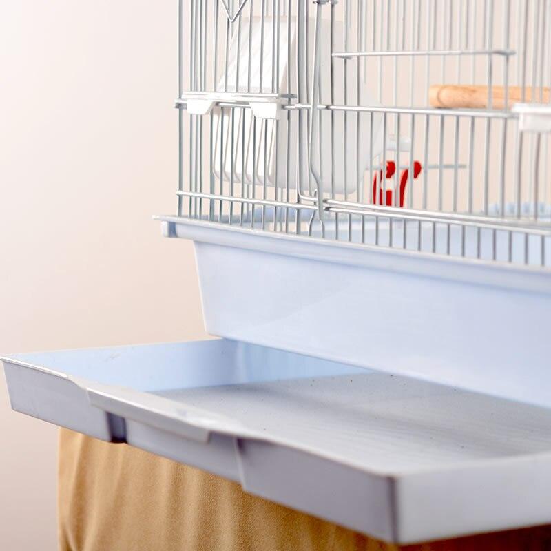 Pliable métal perroquet Villa oiseau Cage muguet Starling perroquet Cage trois étages rehaussé oiseau bâtiment Version améliorée 46*36*93 - 6