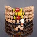 Ubeauty Природного Будда Рудракши Бодхи семена Бисером Браслет Медитация Молитва джапа мала Буддийский 108 Четки ожерелье